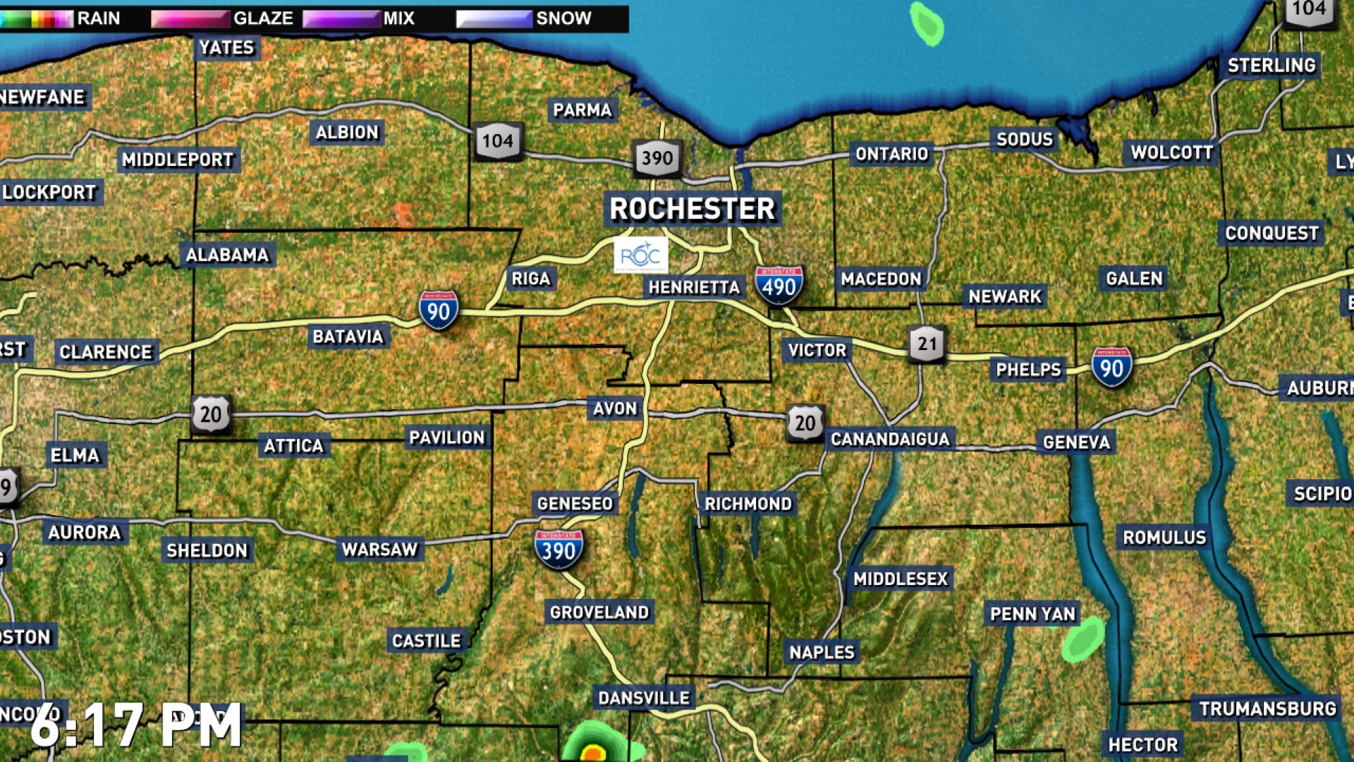 Tornado Symbol On Weather Map.Rochester Weather News Weather Sports Breaking News Wham