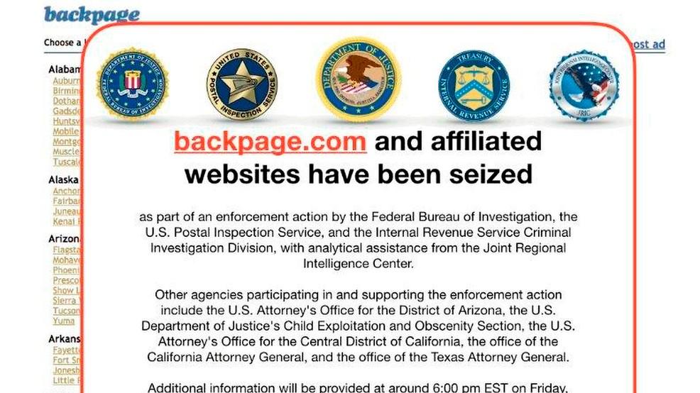 Feds Seize Backpage Com Websites In Enforcement Action
