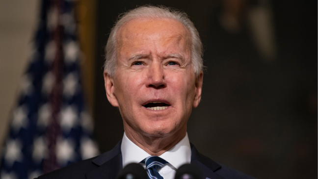 President Biden speaks on economy image