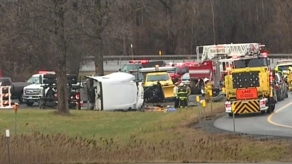 Truck driver dead after crash on Thruway at Exit 43