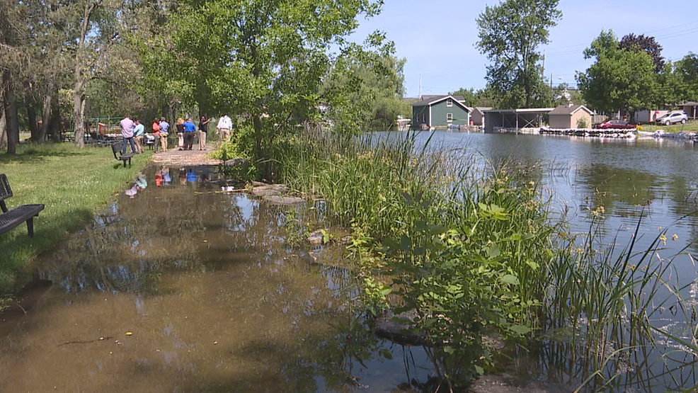 State officials tour damaged lakeshore as leaders brainstorm for permanent solutions