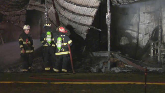 Barn destroyed in Macedon after massive fire