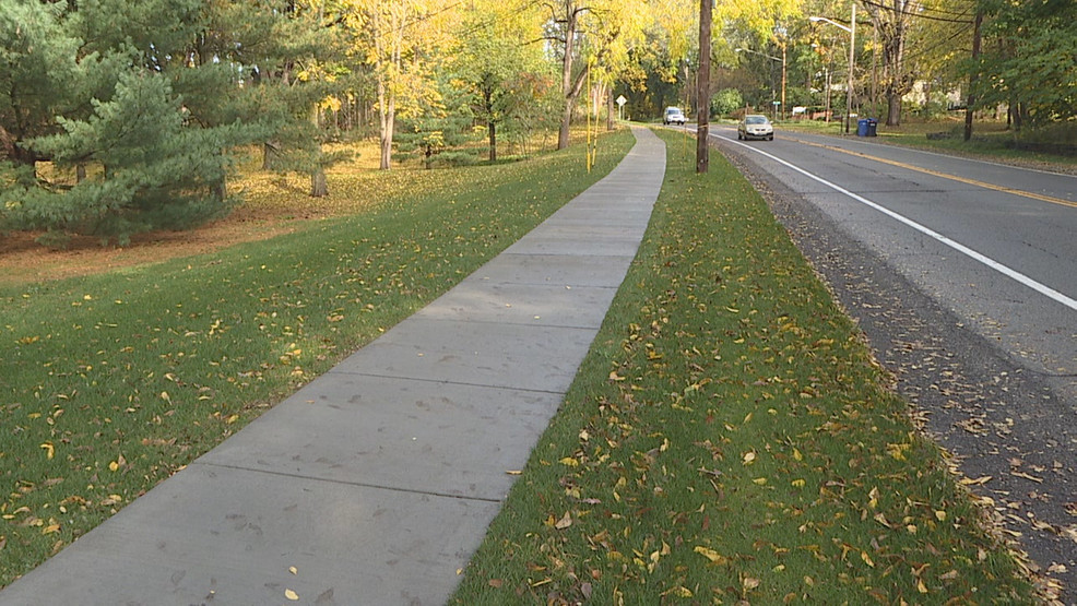 New sidewalk opened to pedestrians, cyclists in Pittsford | WHAM
