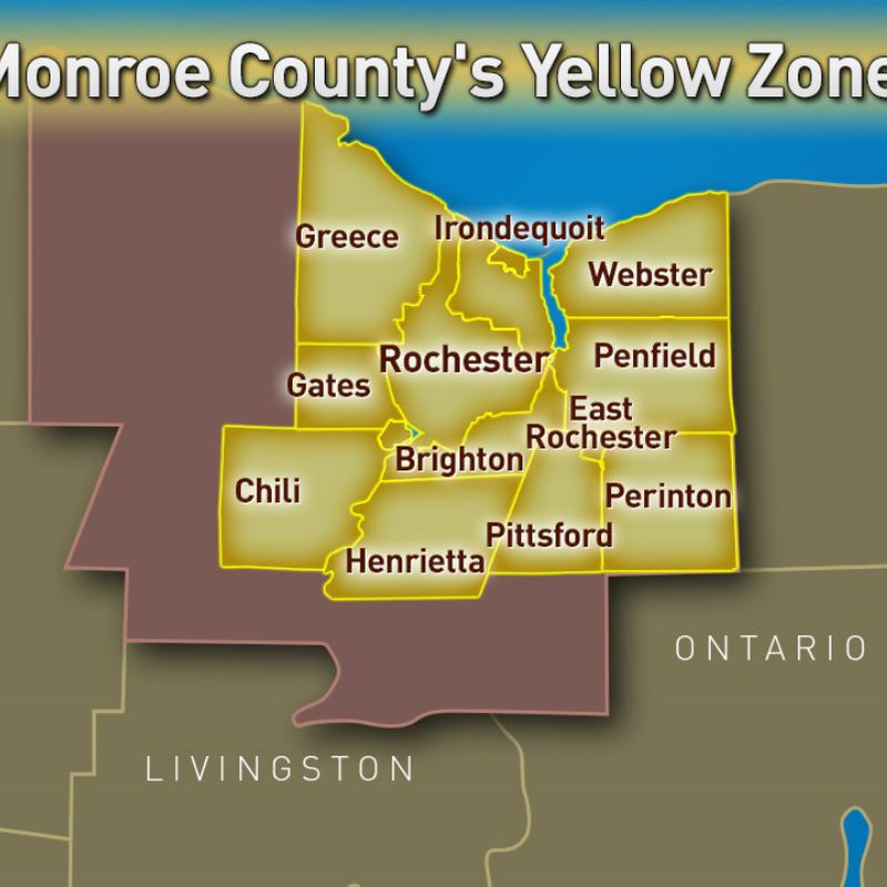 Cuomo Announces Covid 19 Yellow Zones In Parts Of Monroe Erie And Onondaga Counties Wham