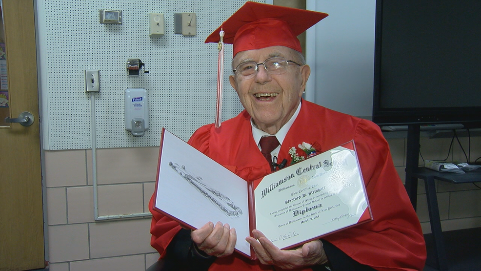 At age 93, Williamson WWII veteran receives high school diploma